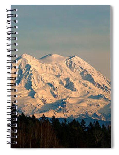Mt Rainier Winter Panorama Spiral Notebook