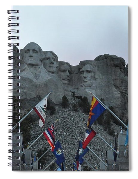 Mt. Rushmore In The Evening Spiral Notebook