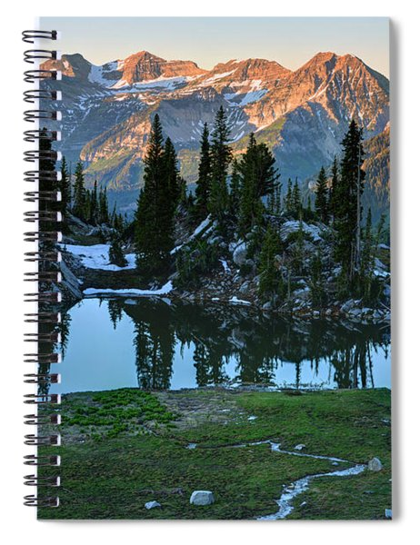 Mt. Timpanogos At Sunrise From Silver Glance Lake Spiral Notebook