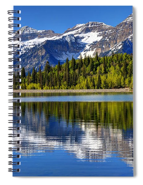 Mt. Timpanogos Reflected In Silver Flat Reservoir - Utah Spiral Notebook