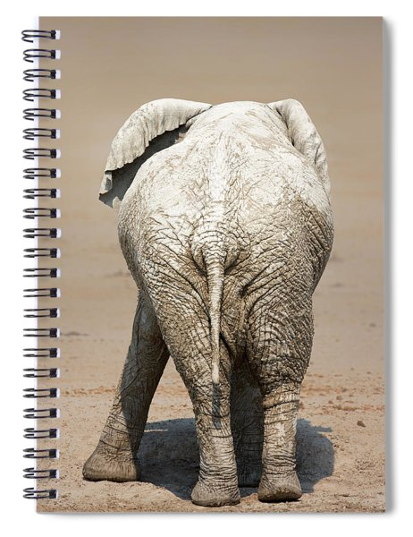 Muddy Elephant With Funny Stance  Spiral Notebook