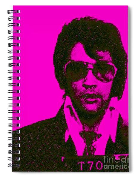 Mugshot Elvis Presley M80 Spiral Notebook