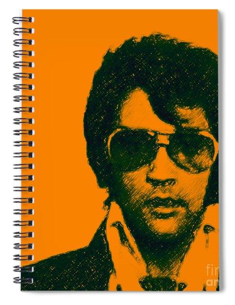 Mugshot Elvis Presley Square Spiral Notebook