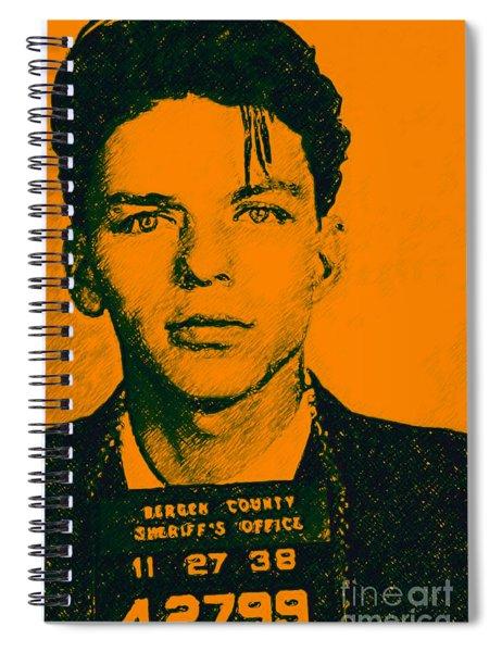 Mugshot Frank Sinatra V1 Spiral Notebook