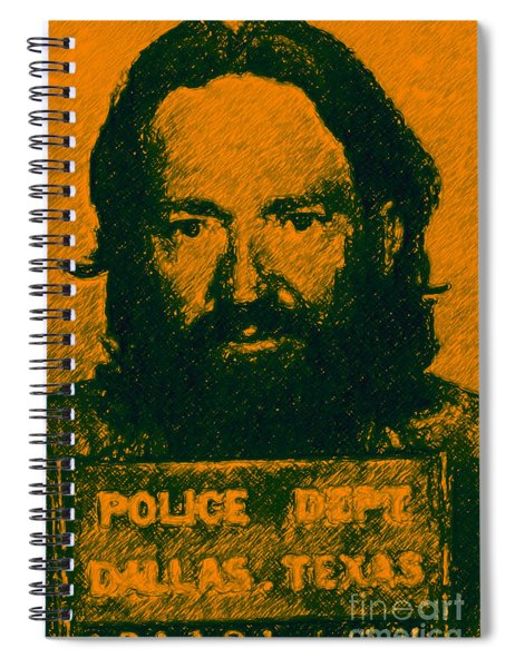 Mugshot Willie Nelson P0 Spiral Notebook