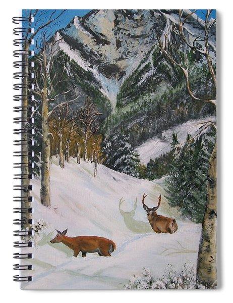 Mule Deer In Winter Spiral Notebook