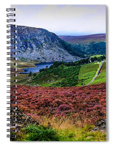 Multicolored Carpet Of Wicklow Hills. Ireland Spiral Notebook