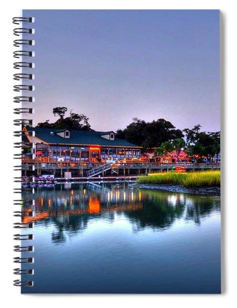 Spiral Notebook featuring the photograph Murrells Inlet Evening by Mel Steinhauer
