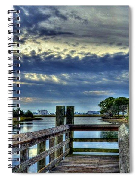 Spiral Notebook featuring the photograph Murrells Inlet Morning 2 by Mel Steinhauer