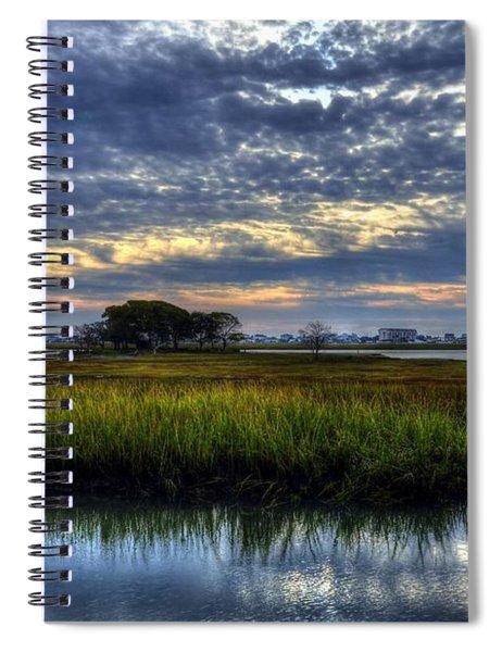 Spiral Notebook featuring the photograph Murrells Inlet Morning 3 by Mel Steinhauer