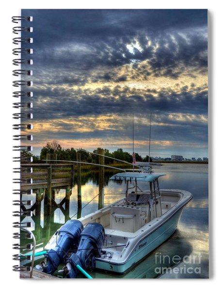 Spiral Notebook featuring the photograph Murrells Inlet Morning 4 by Mel Steinhauer