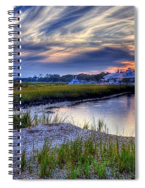 Spiral Notebook featuring the photograph Murrells Inlet Sunset 4 by Mel Steinhauer