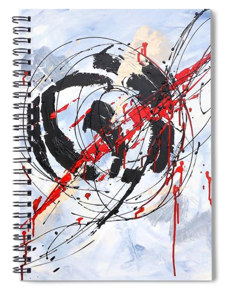 Musical Abstract 002 Spiral Notebook