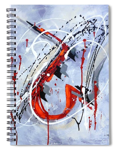 Musical Abstract 005 Spiral Notebook