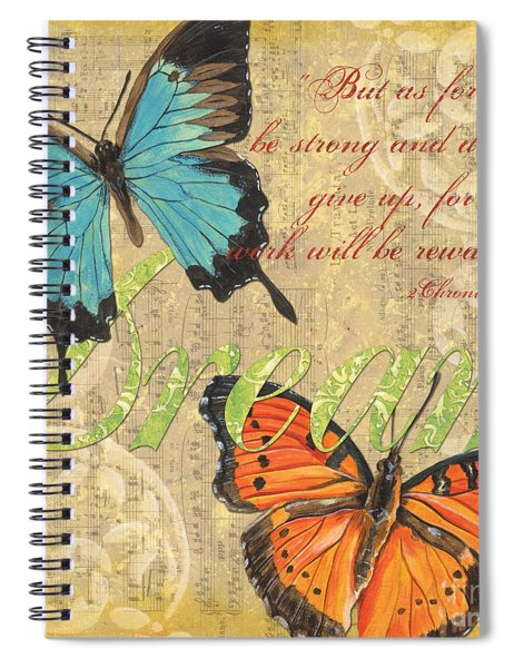 Musical Butterflies 1 Spiral Notebook