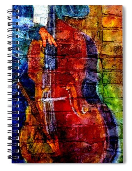 Musician Bass And Brick Spiral Notebook