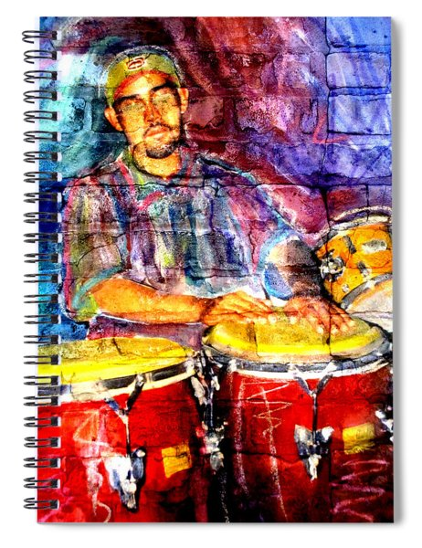 Musician Congas And Brick Spiral Notebook