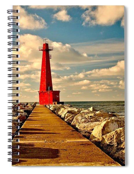 Muskegon South Pier Light Spiral Notebook