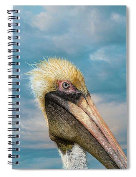 My Better Side - Florida Brown Pelican Spiral Notebook