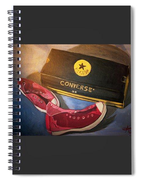 My Chucks - Pink Converse Chuck Taylor All Star - Still Life Painting - Ai P. Nilson Spiral Notebook