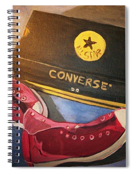 My Chucks - Pink Converse Chuck Taylor All Star - Still Life Painting - Ai P. Nilson Spiral Notebook by Ai P Nilson