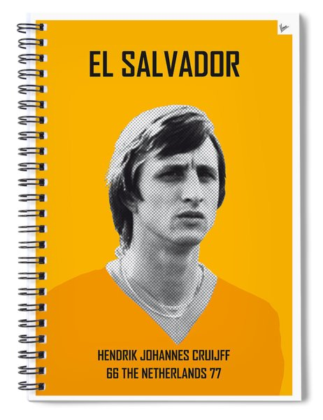 My Cruijff Soccer Legend Poster Spiral Notebook