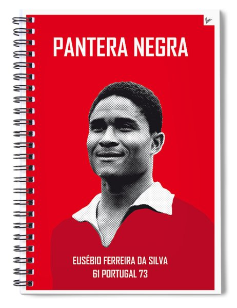 My Eusebio Soccer Legend Poster Spiral Notebook