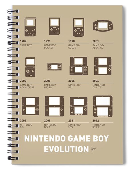 My Evolution Nintendo Game Boy Minimal Poster Spiral Notebook