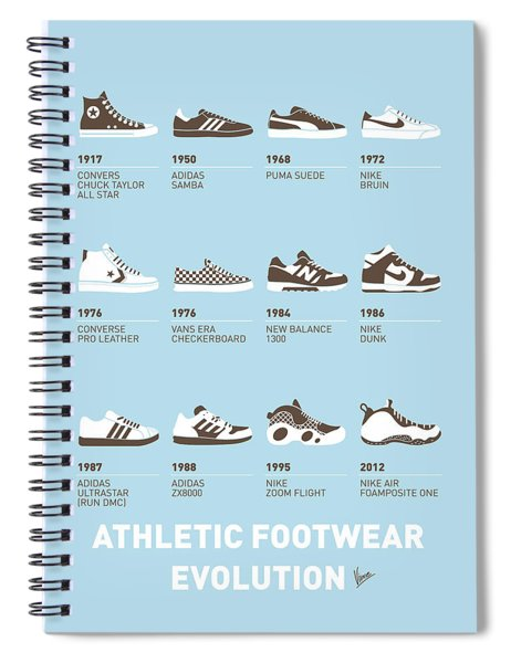 My Evolution Sneaker Minimal Poster Spiral Notebook