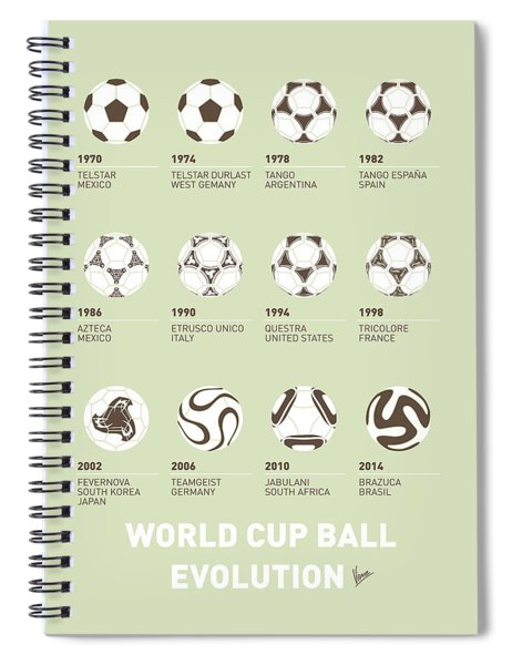 My Evolution Soccer Ball Minimal Poster Spiral Notebook