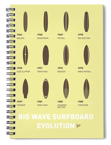 My Evolution Surfboards Minimal Poster Spiral Notebook