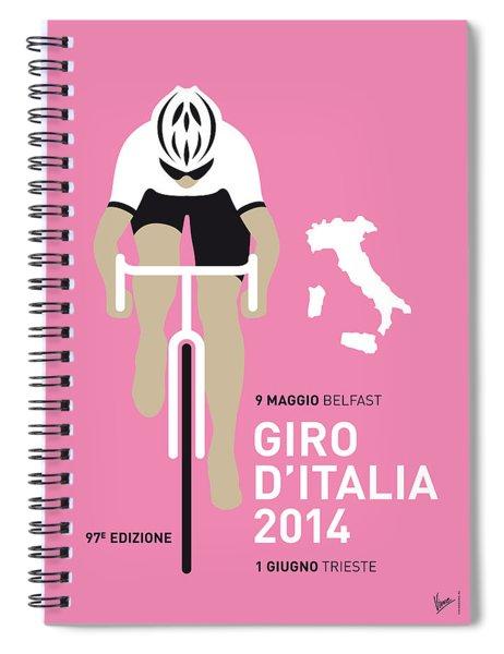 My Giro D Italia Minimal Poster 2014 Spiral Notebook