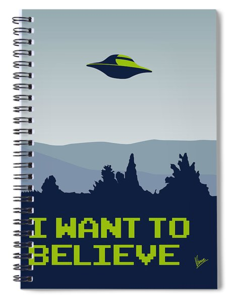 My I Want To Believe Minimal Poster Spiral Notebook