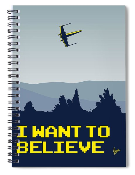 My I Want To Believe Minimal Poster- Xwing Spiral Notebook