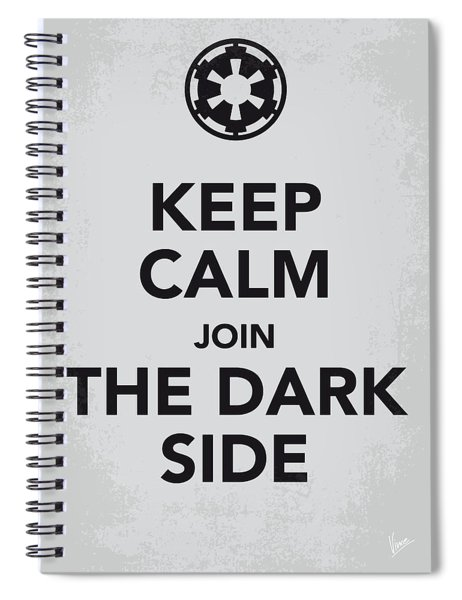 My Keep Calm Star Wars - Galactic Empire-poster Spiral Notebook