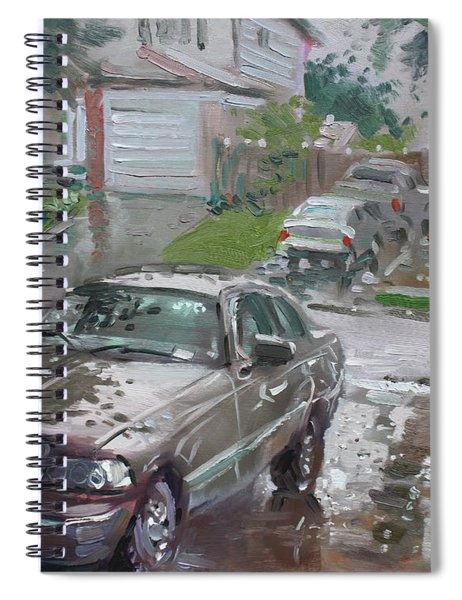 My Lincoln In The Rain Spiral Notebook