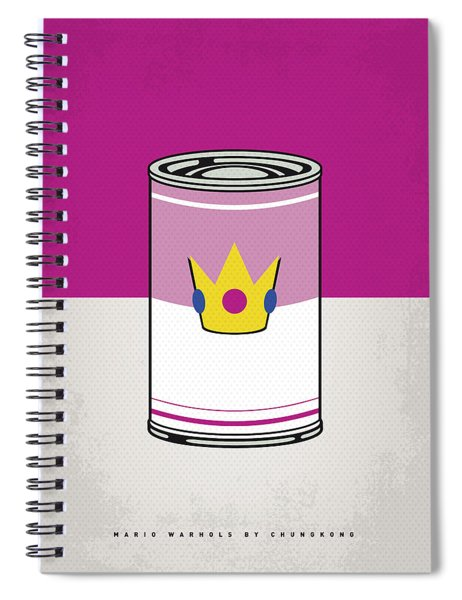 My Mario Warhols Minimal Can Poster-peach Spiral Notebook