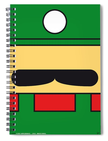 My Mariobros Fig 02 Minimal Poster Spiral Notebook