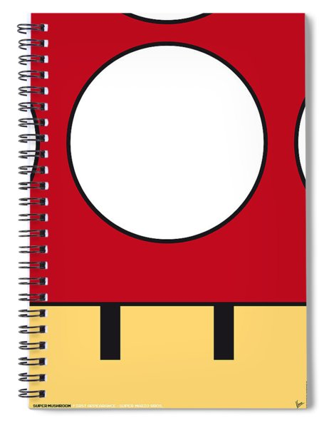 My Mariobros Fig 05a Minimal Poster Spiral Notebook