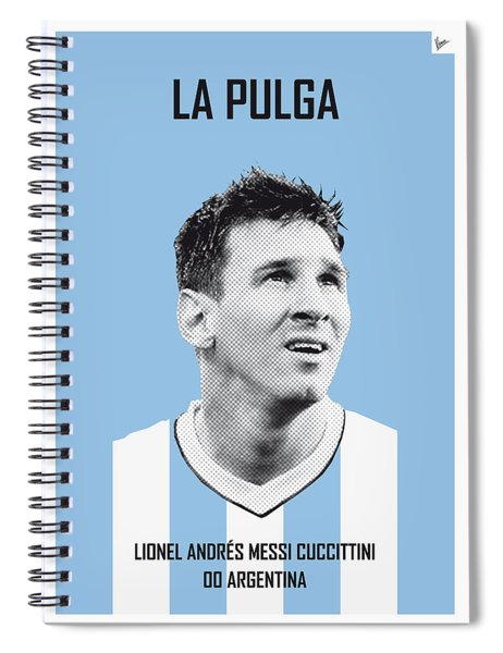 My Messi Soccer Legend Poster Spiral Notebook