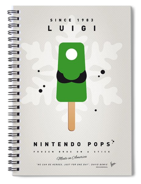 My Nintendo Ice Pop - Luigi Spiral Notebook