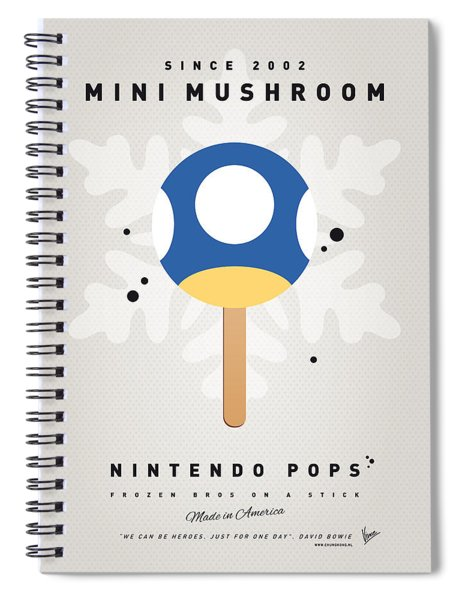 My Nintendo Ice Pop - Mini Mushroom Spiral Notebook