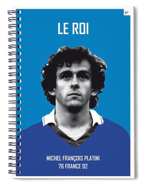 My Platini Soccer Legend Poster Spiral Notebook