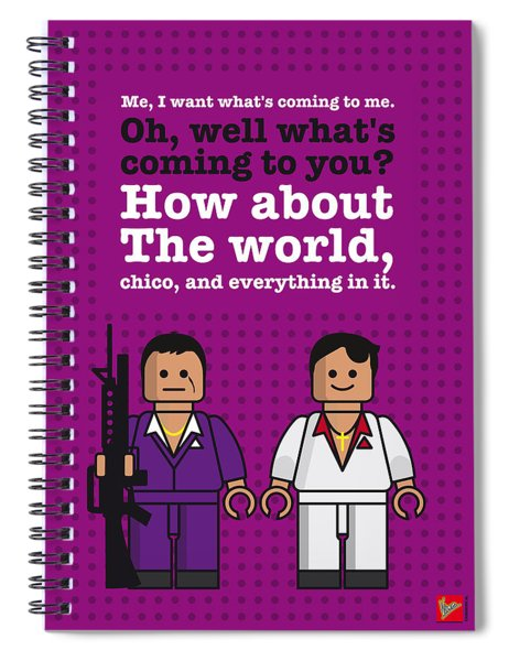 My Scarface Lego Dialogue Poster Spiral Notebook