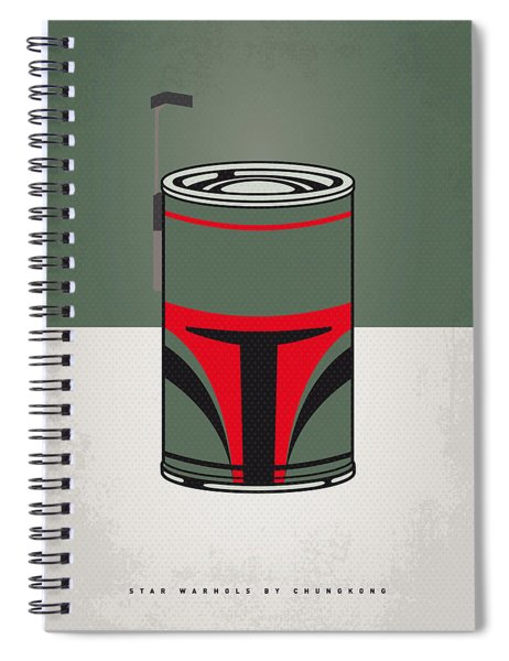 My Star Warhols Boba Fett Minimal Can Poster Spiral Notebook
