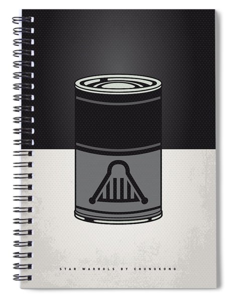My Star Warhols Darth Vader Minimal Can Poster Spiral Notebook