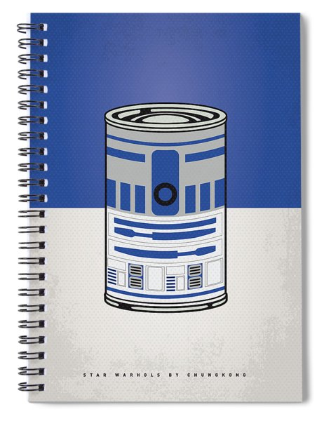 My Star Warhols R2d2 Minimal Can Poster Spiral Notebook