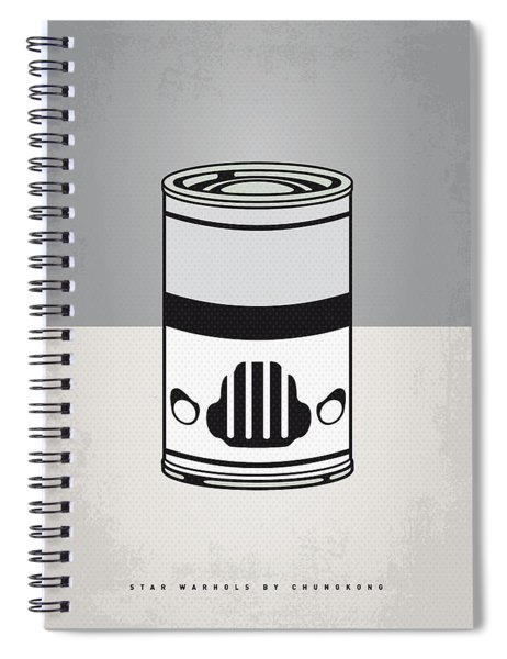 My Star Warhols Stormtrooper Minimal Can Poster Spiral Notebook
