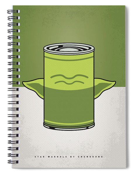 My Star Warhols Yoda Minimal Can Poster Spiral Notebook