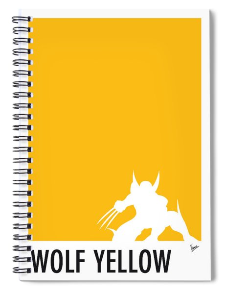 My Superhero 05 Wolf Yellow Minimal Poster Spiral Notebook